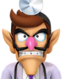 Sprite of Dr. Waluigi from Dr. Mario World
