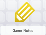 The Game Notes preview on the home menu of the Nintendo 3DS