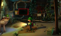 The Gardener's Lab segment from Luigi's Mansion: Dark Moon.