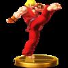 Ken trophy from Super Smash Bros. for Wii U