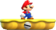Small Mario on a lift, from Super Mario Run.