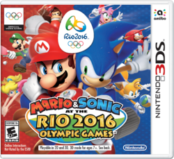 Transparent version of the Mario & Sonic at the Rio 2016 Olympic Games boxart.