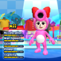 Birdo Mii Costume in the game Mario & Sonic at the London 2012 Olympic Games for the Wii.