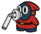 Red Slurp Snifit sprite from Paper Mario: Color Splash