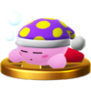 Sleep Kirby's trophy render from Super Smash Bros. for Wii U