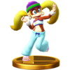 Tiny Kong trophy from Super Smash Bros. for Wii U