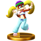 Tiny Kong's trophy from Super Smash Bros. for Wii U
