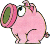 Artwork of a Bomubomu, from Super Mario Land 2: 6 Golden Coins.
