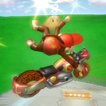 Diddy Kong's Left Bike Trick