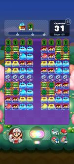Stage 1071 from Dr. Mario World