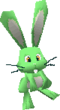 A green Rabbit in Super Mario 64 DS