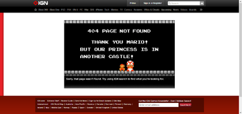 The IGN 404 Error Page.