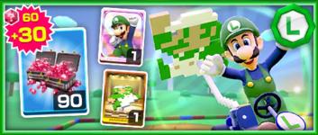 The Luigi (Classic) Pack from the Mario vs. Luigi Tour in Mario Kart Tour