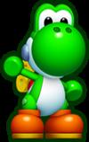 Mini Yoshi, from Mini Mario & Friends: amiibo Challenge