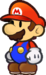 Mario as he appears in Super Paper Mario.