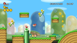 World 1-6 from New Super Mario Bros. Wii.