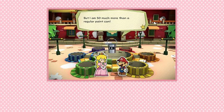 Picture shown with the second question in Paper Mario: Color Splash Trivia Quiz