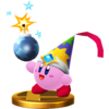 Bomb Kirby's trophy render from Super Smash Bros. for Wii U