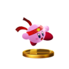 Fighter Kirby's trophy render from Super Smash Bros. for Wii U