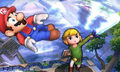 SSB4 3DS - Toon Link Hits Mario.png
