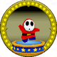 A figure with a Shy Guy on it.