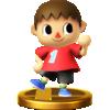 Villager trophy from Super Smash Bros. for Wii U