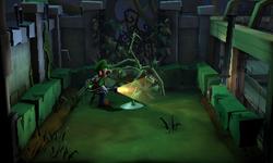 The West Garden segment from Luigi's Mansion: Dark Moon.