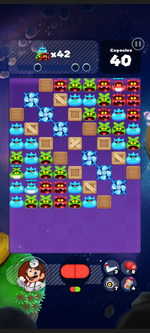 Stage 312 from Dr. Mario World