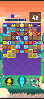 Stage 579 from Dr. Mario World