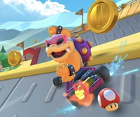 The Iggy Cup Challenge from the Baby Rosalina Tour of Mario Kart Tour
