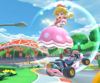 The icon of the Peachette Cup challenge from the 2019 Paris Tour and the Ludwig Cup challenge from the Peach vs. Daisy Tour in Mario Kart Tour