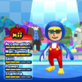 Penguin Mario Mii Costume in the game Mario & Sonic at the London 2012 Olympic Games for the Wii.