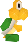 An origami Koopa Troopa from Paper Mario: The Origami King.