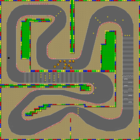 The map for Mario Circuit 4.