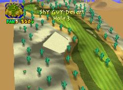 Hole 3 of Shy Guy Desert from Mario Golf
