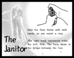 """The """"Prince Shōtoku"""" form in the Japanese version of Smooth Moves and its international equivalent, named """"The Janitor"""" in English."""