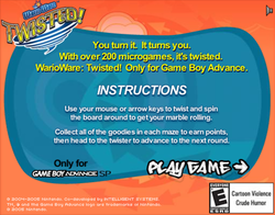 Screenshot of WarioWare Twisted Marble Maze Game