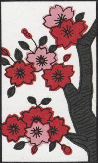 Third card of March in the Club Nintendo Hanafuda deck.