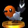 Trophy of Fletchling in Super Smash Bros. for Nintendo 3DS.