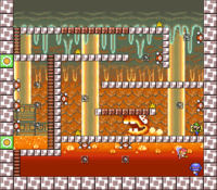 Level 5-3 map in the game Mario & Wario.