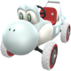 White Turbo Yoshi from Mario Kart Tour