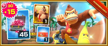 The Donkey Kong Pack from the Vancouver Tour in Mario Kart Tour