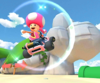 The icon of the Bowser Cup challenge from the New York Tour and the Roy Cup challenge from the Peach Tour in Mario Kart Tour.