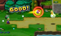 Screenshot of the Knockback Bros. Bros. Attack in Mario & Luigi: Superstar Saga + Bowser's Minions