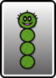 A Green Pokey card from Paper Mario: Color Splash