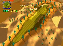 Hole 18 of Shy Guy Desert from Mario Golf