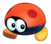 A red Biddybud from Super Mario 3D Land.