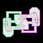 Urchin Underpass map, from Mario Kart 8 Deluxe.