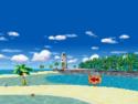 Panorama of Cheep Cheep Beach seen in Mario Kart DS.