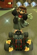 Mario (Hakama) performing a trick.